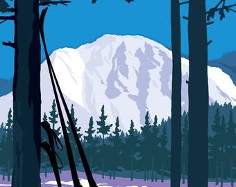 Ski Winter Park - Colorado -  Vintage Style Travel Poster