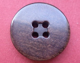 10 buttons Brown dark brown 21mm (3533) button