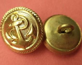 15 mm (1603) metal button buttons 10 metal buttons gold