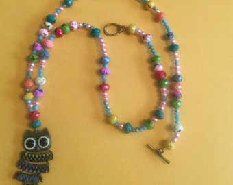 Colorful Owl necklace
