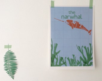 The Narwhal Print