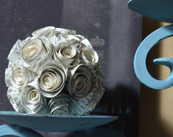 Flower Bombs made from recycled book pages