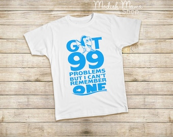 99 Problems, blue fish, orange fish, boys shirt, girls shirt, baby shirt, toddler shirt, summer shirt, beach shirt, birthday shirt