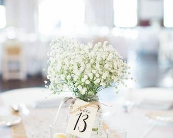 Table Numbers | wedding table numbers | mason jar tags