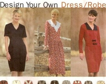 Misses' Design-Your-Own-Dress Simplicity 9137 Vintage 1994 Pattern UNCUT (Size 14-16-18)