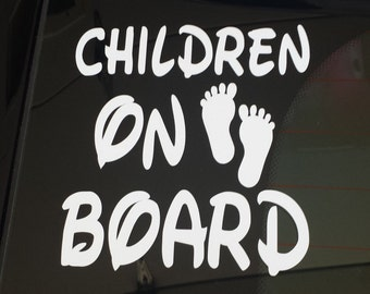 Children On Board car decal