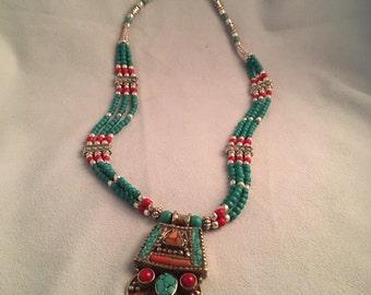 Beaded Tibetan-Style Necklace