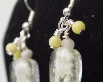 Frozen Margarita Glass & Stone Dangle Earrings