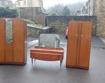 vintage 3 piece lebus bedroom furniture set