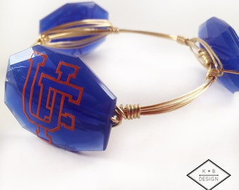 UF Bangle - University of Florida Bangle - Gators Bangle - Orange & Blue