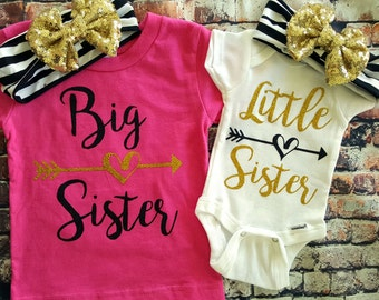 Big Sister/ Little Sister shirt Set,