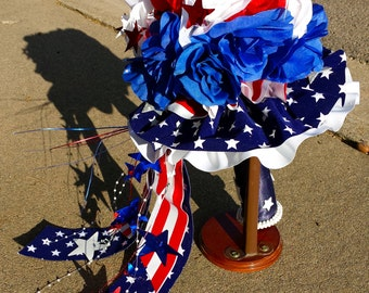 4th of July USA American Patriotic Military Themed Wedding