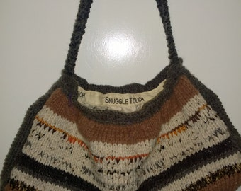 Plush Knitted Handbag