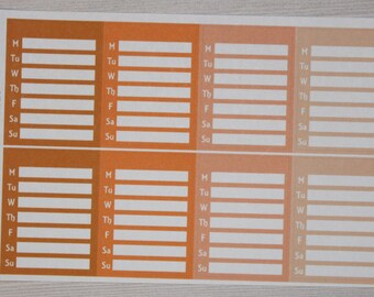 Orange Blank Side Bar