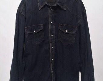Dark Denim Wrangler Shirt