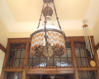 Dutch 19th century rise and fall centre light