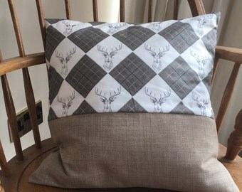 Stags Head and Brown Cushion