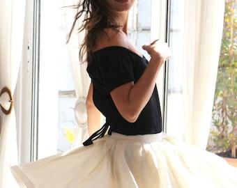 """Skirt """"Swirly"""" / swing skirt / 50s skirt / vintage style skirt / rockabilly skirt / petticoat skirt / poofy skirt / flowy skirt dance skirt"""