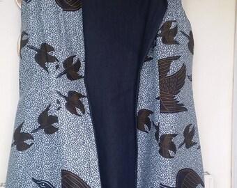 African versatile long waistcoat