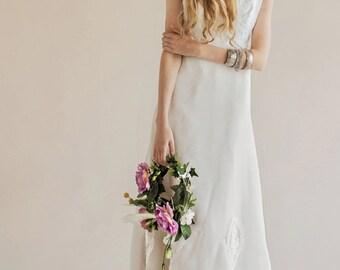 Original Vintage 70's Wedding dress - Lavender