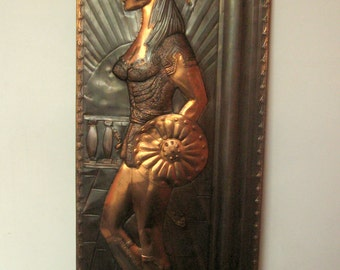Copper Wall Decor , copper repousse , vintage repousse , vintage copper art , handmade  vintage copper repousse, copper art