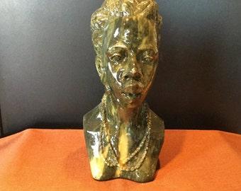 Beautiful Hand-Carved Verdite Shona Sculpture By Lameck Zano