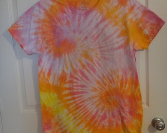 Vintage Series Warm Color Double Spiral Tie Dye Shirt