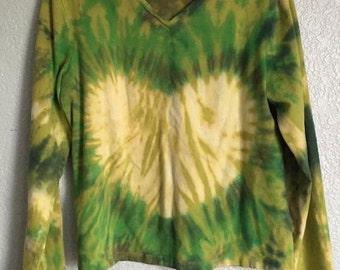 White Heart - Green Long Sleeve Shirt