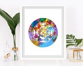 Mandala Art Print Mandala Poster Zen Art New Age Meditation Art