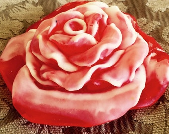 Handmade soap rose