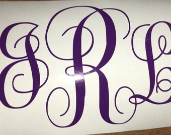 Initial Monogram Decal