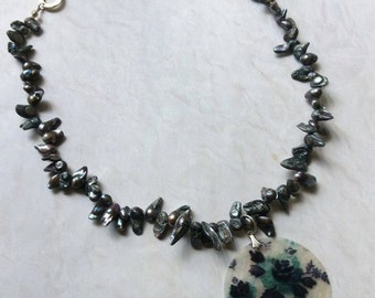 Paua and Capiz Necklace