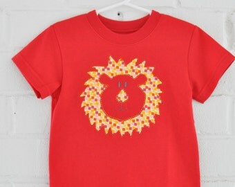Red Lion Custom Hand Embroidered Tee