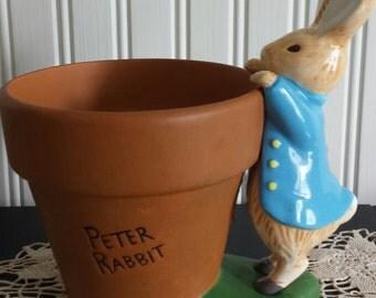 BEATRIX POTTER Peter Rabbit Planter, Flower Pot, Bunny