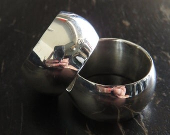 Solid Heavy Silver Ring