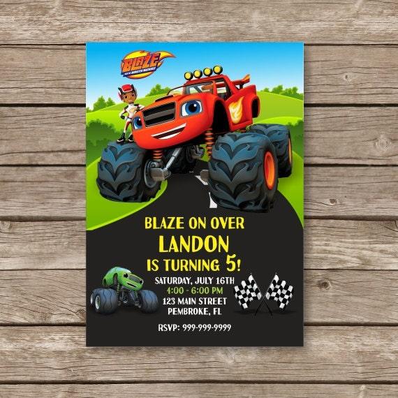 Monster Truck Invitations is amazing invitation design