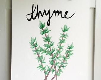Thyme Wall Art
