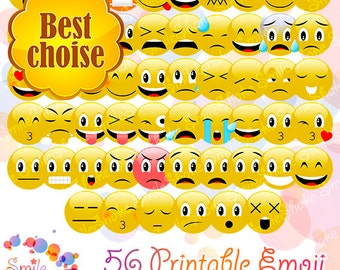 56 PNG Emoji Pack Cute Digital Smiley Faces Clipart Cute Emoticons Funny Emotions Smiling Emojis Clip Art Printable Emoticons Emoji Party