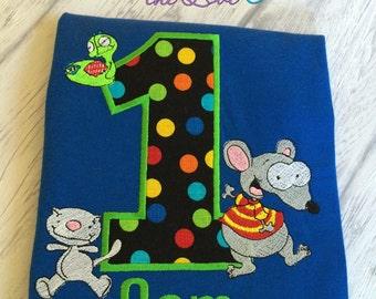 Toopy and Binoo birthday shirt, Birthday shirt, Personalized birthday shirt