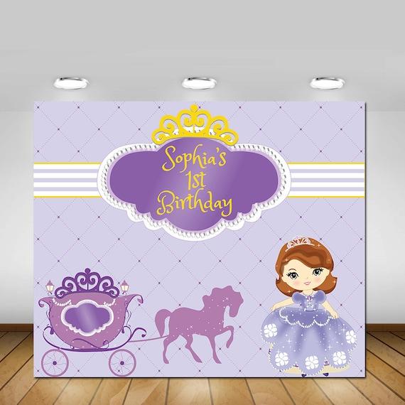 Princess Sofia Backdrop Disney Backdrop First Birthday