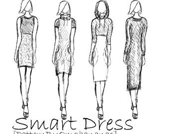 Smart Dress PDF  Sewingpattern XS-2XL