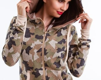 Jacket with a hood Army (Camouflage)