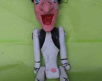 Hand Painted Paper Mache Mexican Witch doll