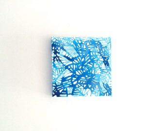 Watercolor Lines, Blue 1
