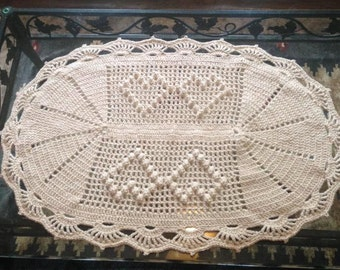 Heart Crochet Rug