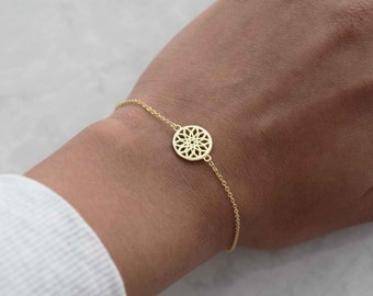 Dreamcatcher bracelet, simple bracelet, dainty bracelet, geometric bracelet, dreamcatcher, sister gift, simple bracelet, girlfriend gift