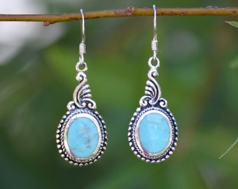 925 Sterling Silver Earrings with Turquoise