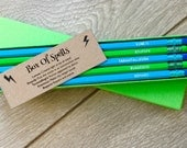 Pencils HARRY POTTER Spells! Hand Stamped Pencils Boxed Pencil Gift Engraved Pencils Pencils With Quotes Small Gifts Stationery Set!