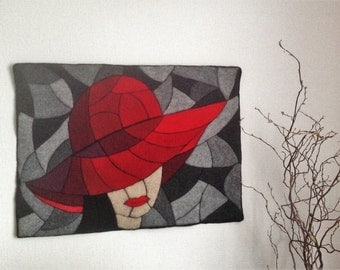 "Mosaic ""Red Hat"" 80x60cm from Eagle / / HAT - design"