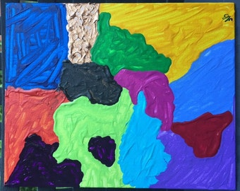 Colorful Abstract Painting on Canvas - Made in the USA